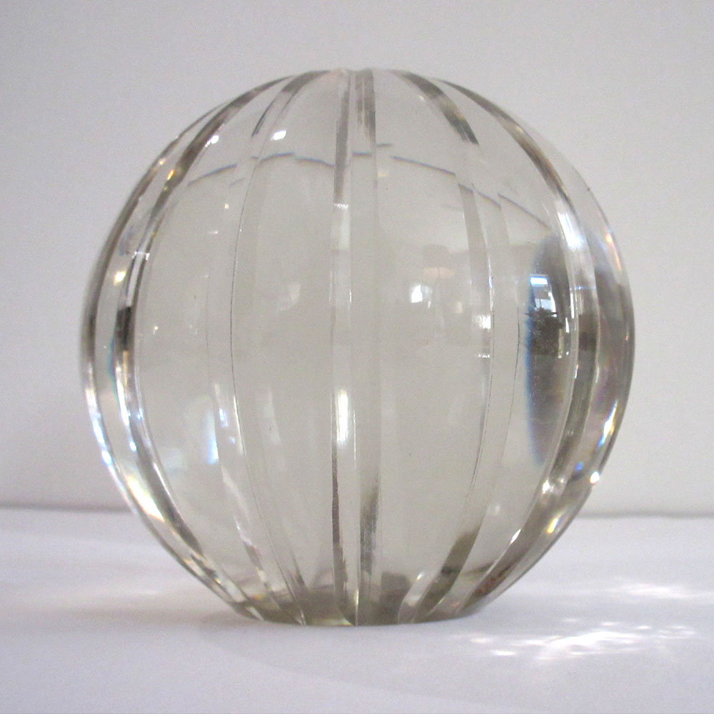 11    FLUTED GLASS BALL, LARGE