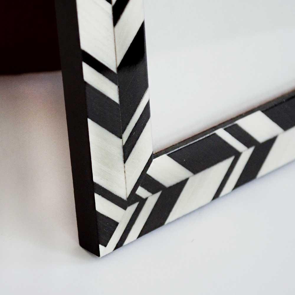 Chevron photo frame, medium, black
